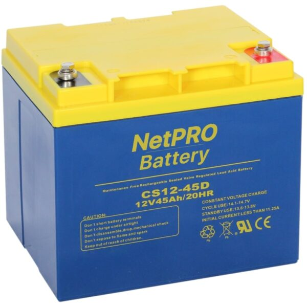 фотография аккумулятор netpro cs12-45d
