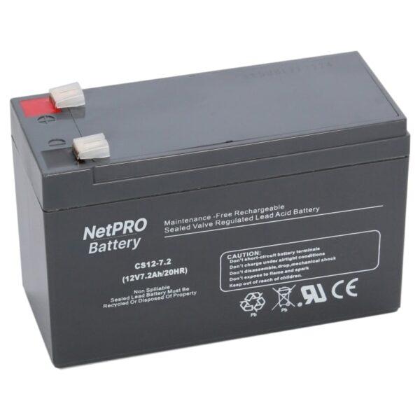 фотография аккумулятор netpro cs12-7.2