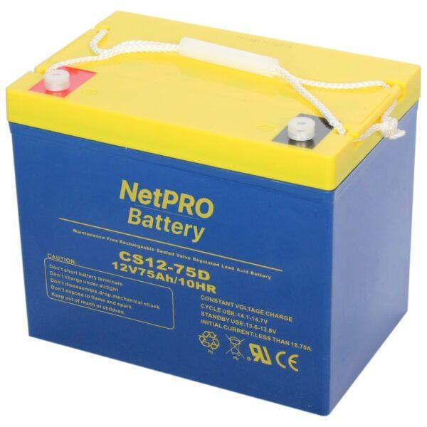 фотография аккумулятор netpro cs12-75d