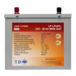 "фотография ""Аккумулятор LiFePO4 LogicPower 24V - 30 Ah (BMS 20A) металл"""