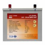 "фотография ""Аккумулятор LiFePO4 LogicPower 24V - 30 Ah (BMS 60A) металл"""